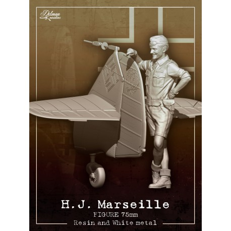 H.J.Marseille 75mm with Bf109 tail