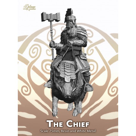The Chief on boar with Helmet ,75mm
