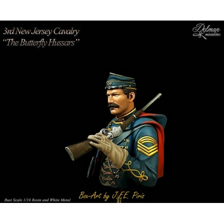 """3rd.NJ Cavalry.""""The Butterfly Hussars""""Bust 1/16"""
