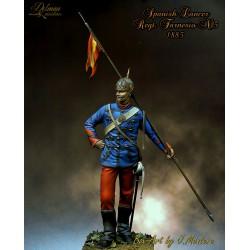 Spanish Lancer.Reg Farnesio,1885. 90mm