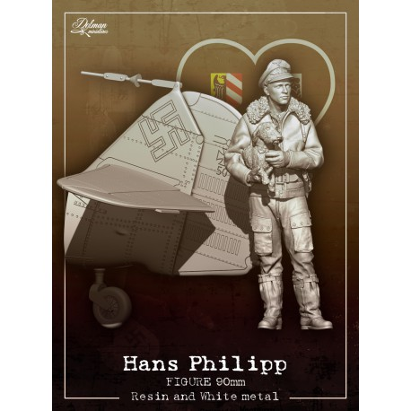 Hans Philipp 90mm with Bf109 tail