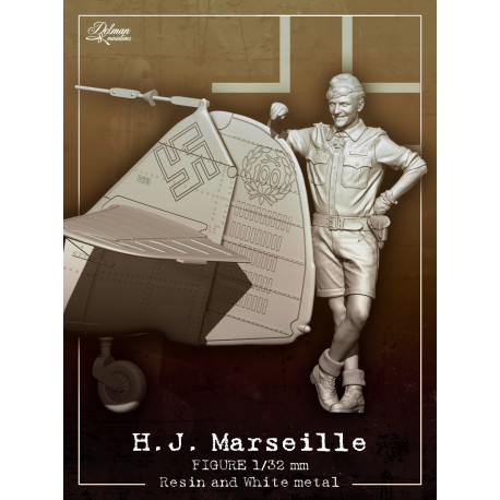 H.J.Marseille  1/32  with Bf109 tail