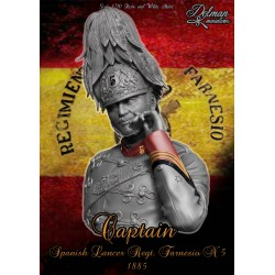 """Captain"" Spanish Lancer,Reg Farnesio 1885 .Bust 1/10"