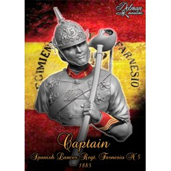 Captain,Spanish Lancer.Reg Farnesio,1885,Bust  1/10
